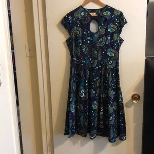 Stunning vintage-style peacock dress